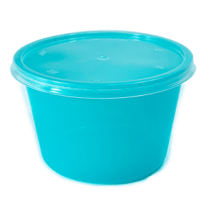 Round Tiffany Blue Container Series